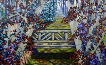 Jardín con puente