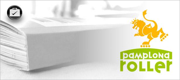 Pamplona Roller logotipo