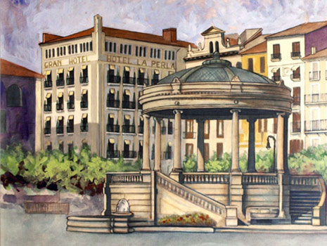 Plaza del Castillo dibujo