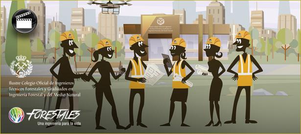 Mini animación explicativa para el Colegio Oficial de Ingenieros Forestales acerca de las ventajasMini animación explicativa para el Colegio Oficial de Ingenieros Forestales acerca de las ventajas de colegiarse.